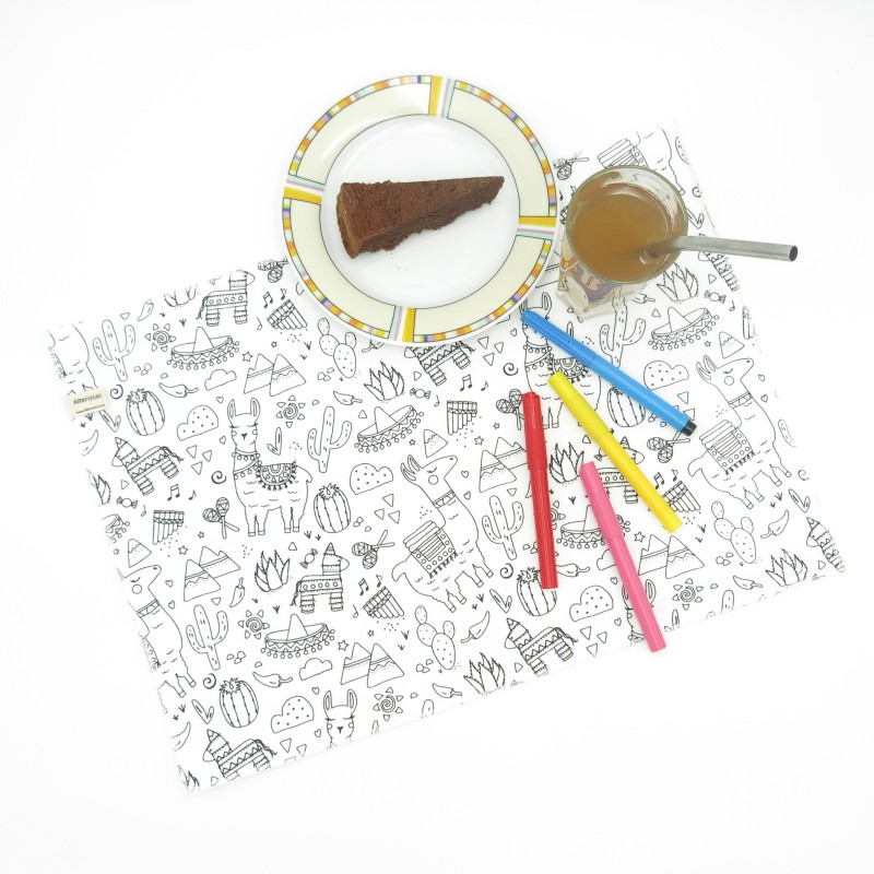 Set de table à colorier