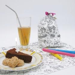 Pack à colorier - Set de table & pochette anniversaire