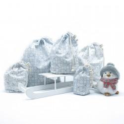 Set de 5 sacs en coton de Noël